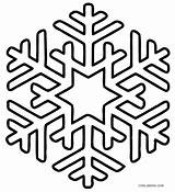 Coloring Pages Snowflake Snowflakes Printable Cool2bkids sketch template