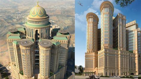le plus grand escalier du monde la mecque s offre le plus grand h 244 tel du monde