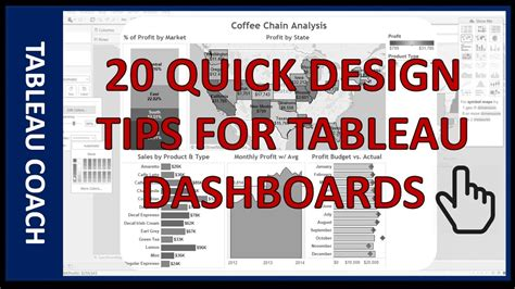 20 Quick Design Tips For Tableau Dashboards  Youtube