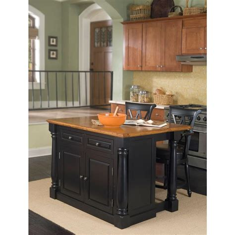 home styles monarch black kitchen island  seating