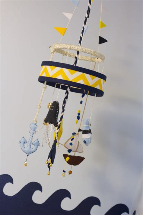 nautical crib mobile jude s nautical nursery project nursery