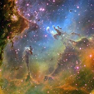 Eagle Nebula, M16, NGC 6611, IC 4703 - Hubble - Star Image ...