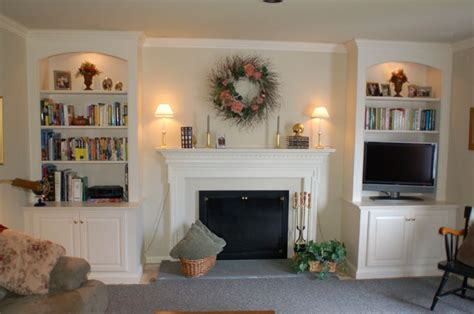Painted Fireplace Bookcases (existing Mantel) Artisan
