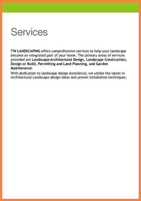 5 landscaping company profile sle company letterhead