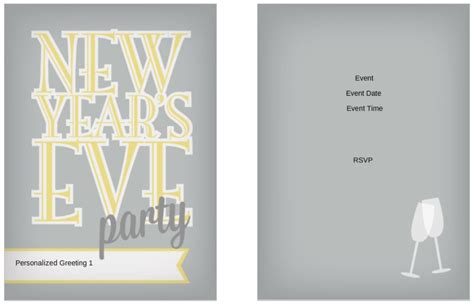 years eve party invitation templates