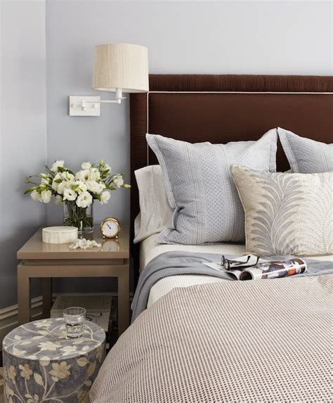 Schlafzimmer Grau Braun by Blue And Brown Bedroom Design Transitional Bedroom