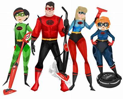 Superhero Cleaning Clipart Campaign Superheroes Vileda Hero