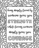 Coloring Pages Quotes Printable Sheets Titus Quote Adults Sarah Courage Word Inspirational Zen Sarahtitus Adult Printables Pantone Tpx Hard Pdf sketch template