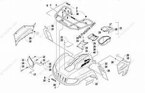 Arctic Cat Atv 2009 Oem Parts Diagram For Front Rack  Body