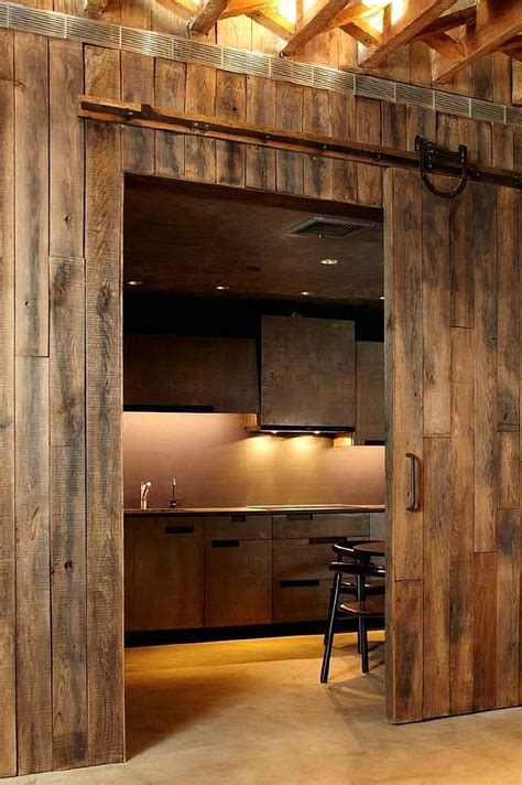 trendy kitchens  unleash  allure  sliding barn