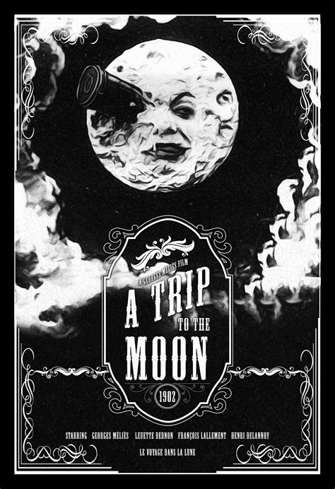 george melies poster vintage a trip to the moon poster illustration georges