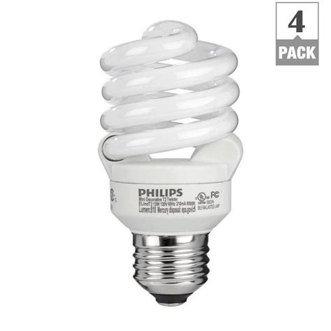 what is a cfl l philips 60 watt equivalent t2 spiral cfl light bulb