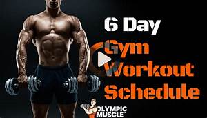 6 Day Gym Workout Schedule In 2020