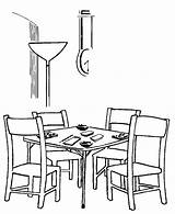 Coloring Table Pages Dining Colouring Printable Bridge Popular Coloringhome sketch template
