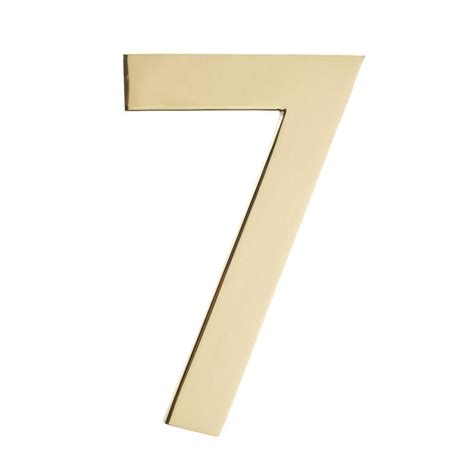 architectural mailboxes 5 in polished brass house number 7 3585pb 7 the home depot