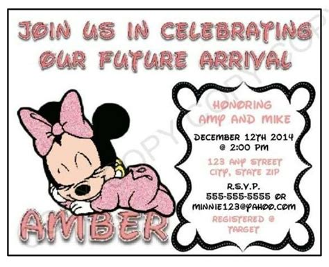minnie mouse baby shower invitations city minnie mouse baby shower invitation personalize printables
