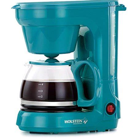 And say you have friends coming over for coffee talk: Holstein HH0914701E 5 Cup Coffee Maker, Teal | Walmart Canada
