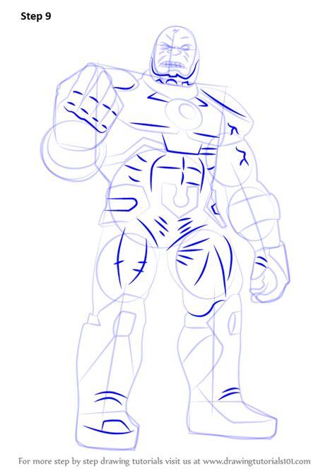 learn   draw   darkseid dc comics step  step drawing tutorials