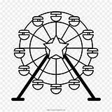 Ferris Wheel Drawing Eye London Clip Coloring Svg Silhouette Clipart Pages Drawings Easy Transparent Getcolorings Printable Print 1000 sketch template