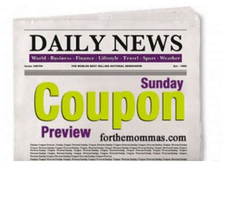 19933 Redplum Coupons Sunday Paper by Sunday Coupon Preview 3 1 15 Four Coupon Inserts