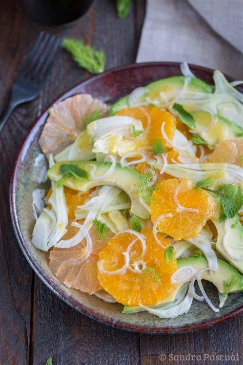 cuisine fenouil salade au fenouil agrumes avocat cuisine addict