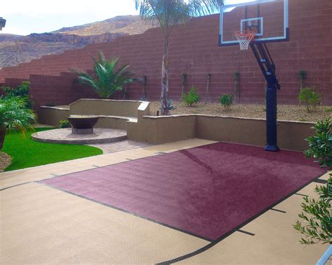 How Much Does A Backyard Basketball Court Cost by Residential Gallery Snapsports News