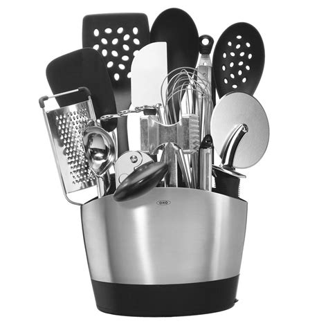 oxo good grips everyday kitchen tool set  piece cutlery