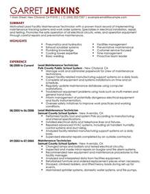 facilities maintenance resume template facility manager resume images