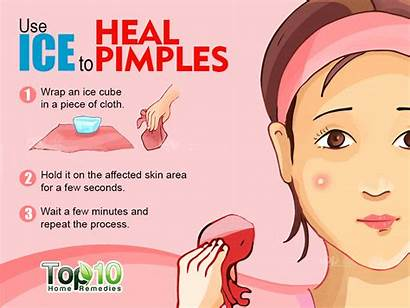 Pimples Rid Fast Ice Skin Piece Seconds