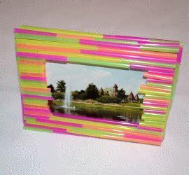 basteln mit trinkhalmen bilderrahmen aus trinkhalmen basteln