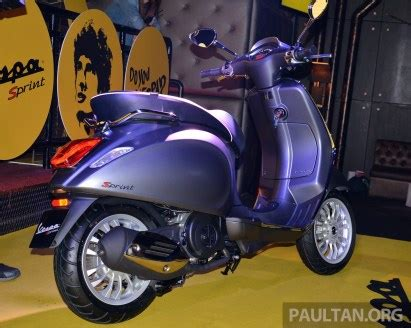 Modification Vespa Sprint by Vespa Sprint Launched In Malaysia 3v 150cc Rm15k