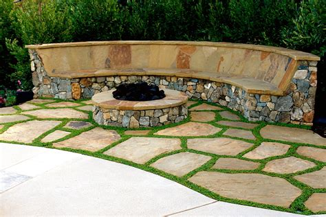 Extraordinary Stone Bench With Back Stone