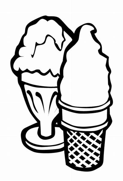 Ice Cream Coloring Pages Printable Sundae Clipart