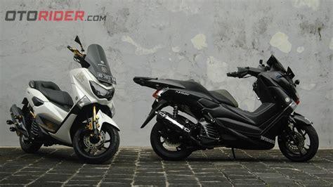 modifikasi dua yamaha nmax 2016 edisi hitam putih siap turing