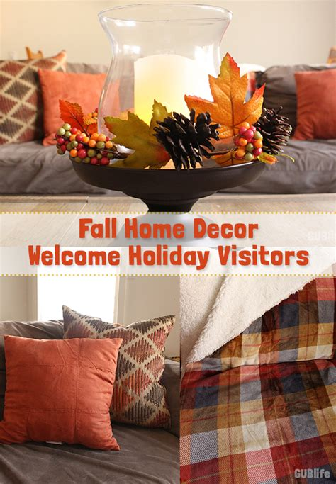 fall home decor  holiday visitors gublife