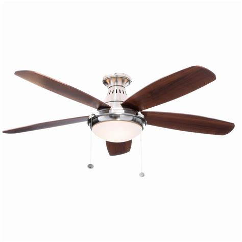 52 brushed nickel ceiling fan hunter newsome 52 in indoor brushed nickel ceiling fan