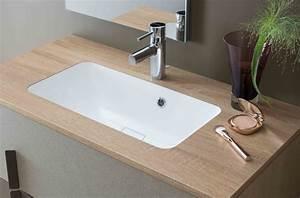 Salle De Bain Plan De Travail : plan de travail salle de bain avec dosseret lille menage ~ Melissatoandfro.com Idées de Décoration