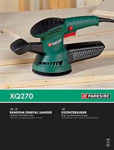 Parkside Excentersliber Xq270 Users Manual 45843 Random