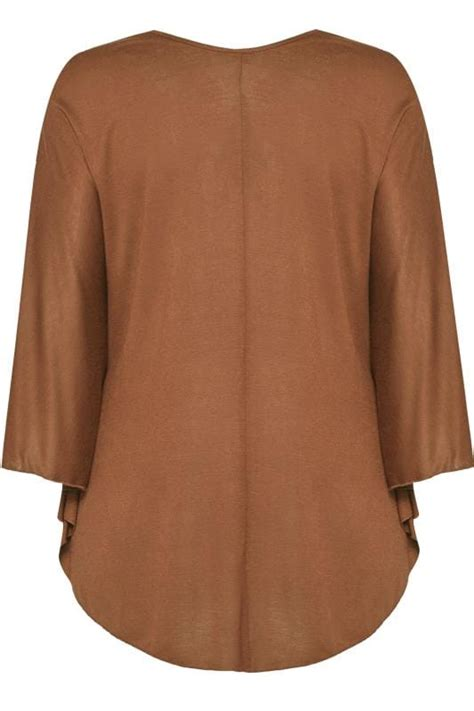 size  brown jersey cape top sizes
