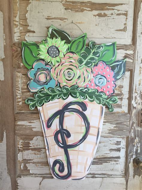 Spring Door Hanger Personalized Door Hanger Door Decor