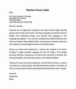 10 teacher cover letter examples download for free With examples of covering letters for teaching jobs