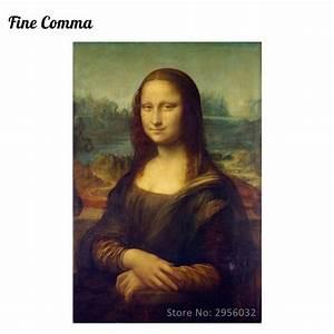Oil Painting Mona Lisa by Leonardo da Vinci Canvas