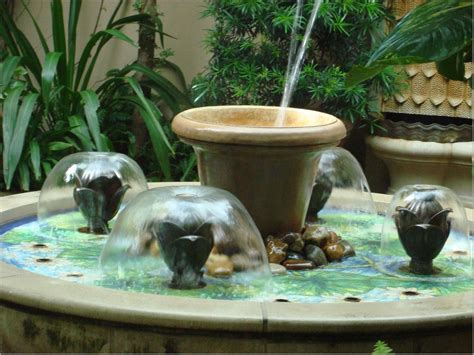 small water fountain indoor backyard design ideas