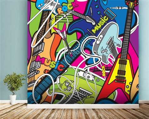 colourful  wallpaper wall mural wallsauce uk