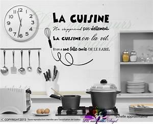 Stickers Muraux Cuisine : stickers cuisine dicton ~ Premium-room.com Idées de Décoration