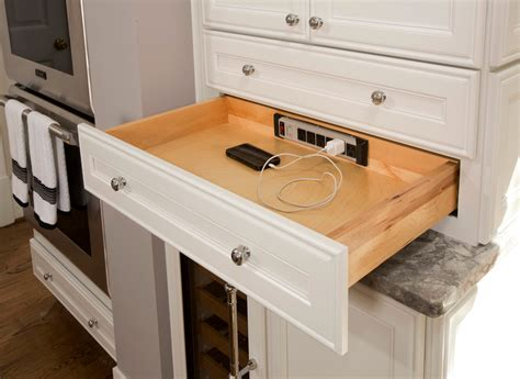 Device Charging Station Kitchen Traditional With