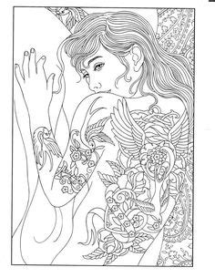 Printable Coloring Page | Body Art Coloring Pages