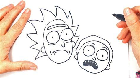 draw rick  morty cartoon drawings youtube