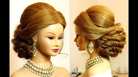 Hairstyle For Long Hair Tutorial. Bridal Updo.