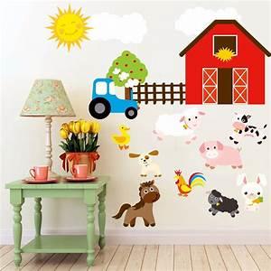 Aliexpress buy cartoon diy farm animals wall